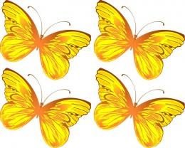 Купить Односторонний фигурный элемент Бабочка для оформления группы детского сада 24 шт. 110*90мм в России от 1225.00 ₽