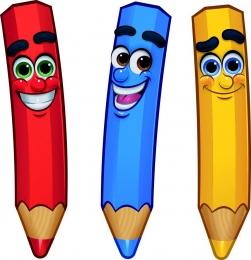 Купить Односторонний фигурный элемент Цветные карандаши 3 шт. в России от 808.00 ₽