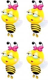Купить Односторонний фигурный элемент Пчёлка для оформления группы детского сада 24 шт. 60*100мм в России от 740.00 ₽