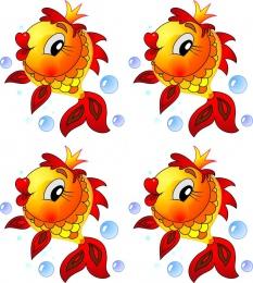 Купить Односторонний фигурный элемент Рыбка для оформления группы детского сада 24 шт. 80*80мм в России от 4441.00 ₽