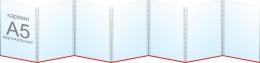 Купить Папка-передвижка на 7 вертикальных карманов А5 в России от 755.00 ₽