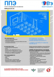 Купить Плакат Информационный  ППЭ 300*420 мм в России от 474.00 ₽