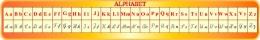 Купить Стенд Алфавит для кабинета французского языка в жёлто-оранжевых тонах 1950*300мм в России от 2088.00 ₽