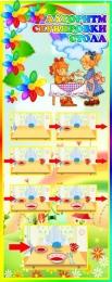 Купить Стенд Алгоритм сервировки стола в группу Семицветик 200*500 мм в России от 357.00 ₽
