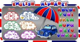 Купить Стенд Английский Алфавит с в стиле Лондон 1370*720 мм в России от 3521.00 ₽