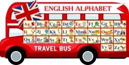 Купить Стенд Английский Алфавит в виде автобуса 1050*530мм в России от 1987.00 ₽