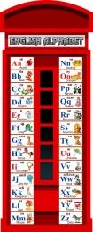 Купить Стенд Английский Алфавит в виде телефонной будки 300*750 мм. в России от 830.00 ₽