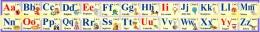 Купить Стенд Английский Алфавит в жёлто-фиолетовых тонах 250*2000мм в России от 1785.00 ₽