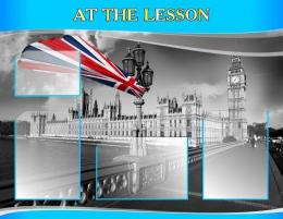 Купить Стенд AT THE LESSON для кабинета английского языка  970*750 мм в России от 3025.00 ₽