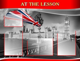 Купить Стенд AT THE LESSON для кабинета английского языка в стиле Лондон 970*750мм в России от 2887.00 ₽