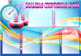 Купить Стенд Большая спортивная арена в синих тонах 1000*700 мм в России от 3063.00 ₽