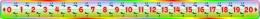 Купить Стенд Числовая прямая в радужных тонах 2000*150мм в России от 4239.00 ₽