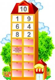 Купить Стенд Числовой домик 600*860 мм в России от 2743.00 ₽