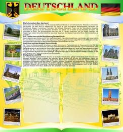 Купить Стенд Deutschland в кабинет немецкого языка на 2 кармана А4 в жёлто-салатовых тонах 750*800мм в России от 2302.00 ₽
