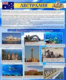 Купить Стенд Достопримечательности Австралии 700*850мм в России от 2237.00 ₽