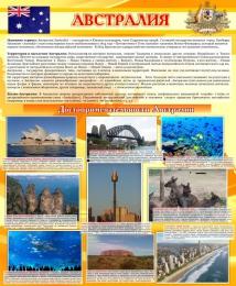 Купить Стенд Достопримечательности Австралии желтый 700*850мм в России от 2237.00 ₽