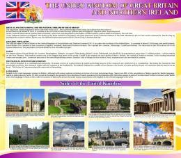 Купить Стенд Достопримечательности Великобритании на английском языке 800*700 мм в желто-фиолетовых тонах в России от 2106.00 ₽