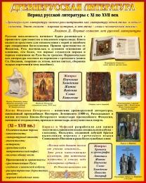 Купить Стенд Древнерусская литература в золотисто-бордовых тонах 400*500 мм в России от 714.00 ₽