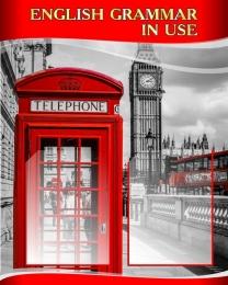 Купить Стенд  English Grammar In Use для кабинета английского в красно-серых тонах в стиле Лондон 600*750 мм в России от 1767.00 ₽
