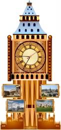 Купить Стенд Фигурный Биг-Бен с часами, размер 400*850 мм в России от 1772.00 ₽
