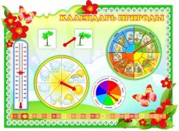 Купить Стенд фигурный Календарь Природы  в группу Полянка 860*620 мм в России от 2253.00 ₽