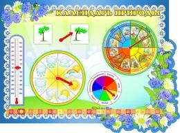 Купить Стенд фигурный Календарь Природы в группу Василёк 850*630 мм в России от 2324.00 ₽