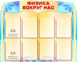 Купить Стенд Физика вокруг нас винтажный в бирюзовых тонах 1100*900мм в России от 4293.00 ₽
