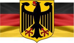 Купить Стенд Флаг Герб Германии в кабинет немецкого языка  300*170мм в России от 188.00 ₽