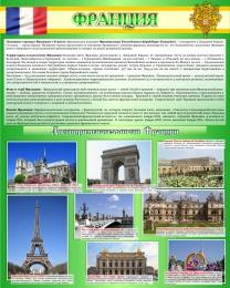 Купить Стенд Франция в золотисто-зелёных тонах 600*750 мм в России от 1611.00 ₽