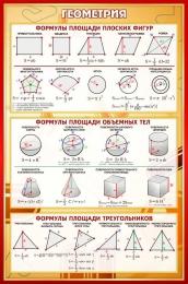 Купить Стенд Геометрия в золотисто-бордовых тонах 430*650 мм в России от 1001.00 ₽