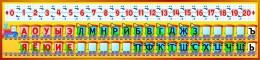 Купить Стенд Гласные и согласные с цифрами для кабинета начальной школы 1500*350 мм в России от 2042.00 ₽