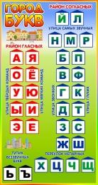 Купить Стенд Город букв в радужных тонах 400*750 мм в России от 1071.00 ₽
