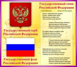 Купить Стенд Государственные символы Российской Федерации для кабинета английского языка в России от 835.00 ₽