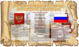 Купить Стенд Государственные символы Российской Федерации в России от 1847.00 ₽