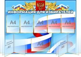 Купить Стенд информация для избирателей 1200*900 мм в России от 6436.00 ₽