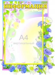 Купить Стенд Информация  группа Васильки 317*420 мм в России от 605.00 ₽