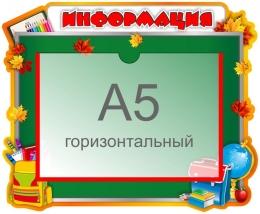 Купить Стенд Информация с карманом А5 для начальной школы 310*250 мм в России от 336.00 ₽
