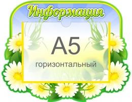 Купить Стенд Информация в группу Ромашка с карманом А5 320*250 мм в России от 361.00 ₽