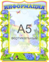 Купить Стенд Информация в группу Васильки с карманом А5 250*320 мм в России от 361.00 ₽