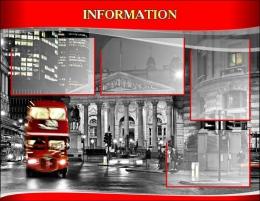 Купить Стенд  INFORMATION для кабинета английского языка в красно-серых тонах в стиле Лондон. 970*750 мм в России от 3055.00 ₽