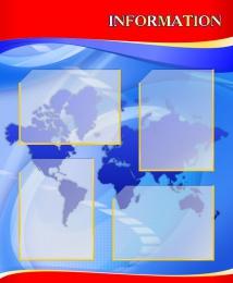 Купить Стенд INFORMATION для кабинета английского языка в красно-синих тонах 700*850мм в России от 2444.00 ₽