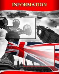 Купить Стенд INFORMATION для кабинета английского языка в стиле Лондон 600*750мм в России от 1767.00 ₽