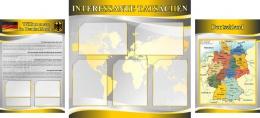 Купить Стенд INTERESSANTE TATSACHEN в кабинет немецкого языка в желто-серых тонах в России от 4491.00 ₽