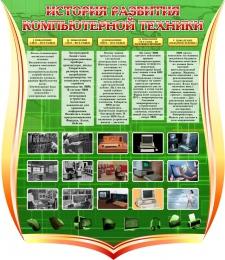 Купить Стенд История развития компьютерной техники 1000*1150 мм в России от 4244.00 ₽
