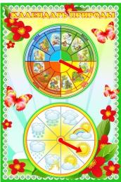 Купить Стенд Календарь Природы мини в группу Полянка 370*550 мм в России от 1036.00 ₽