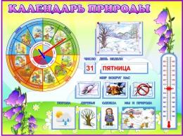 Купить Стенд Календарь Природы, развивающий в группу Колокольчик 800*600 мм в России от 2349.00 ₽
