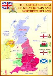 Купить Стенд Карта Великобритании для кабинета английского языка 700*1000мм в России от 2499.00 ₽