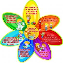 Купить Стенд Каждый ребёнок в саду обязан в стиле группы Семицветик 510*510мм в России от 960.00 ₽