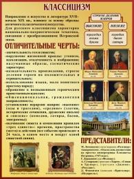 Купить Стенд Классицизм в искусстве и литературе 300*400 мм в России от 547.00 ₽