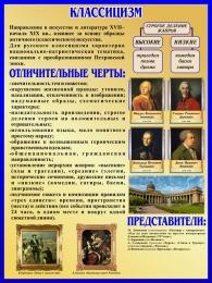 Купить Стенд Классицизм в искусстве и литературе 450*600 мм в России от 964.00 ₽